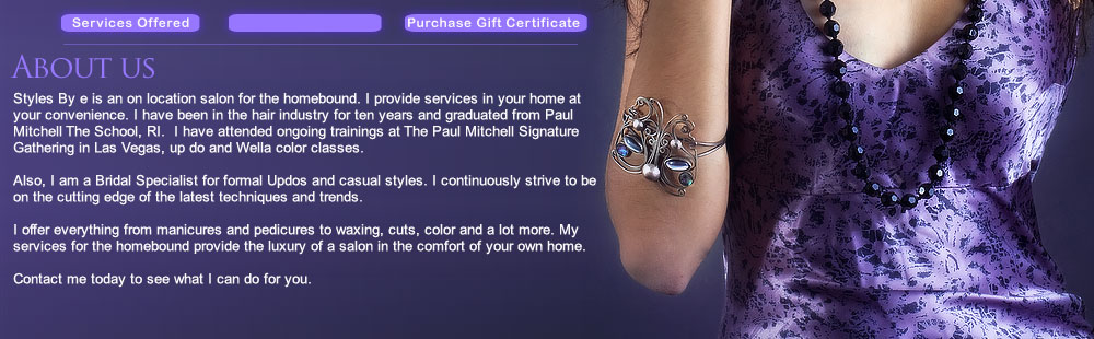 Mobile Hair Salon Rhode Island RI Hair Stylist - Skin - Nails